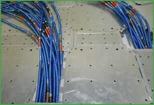 Raised access flooring cable managment