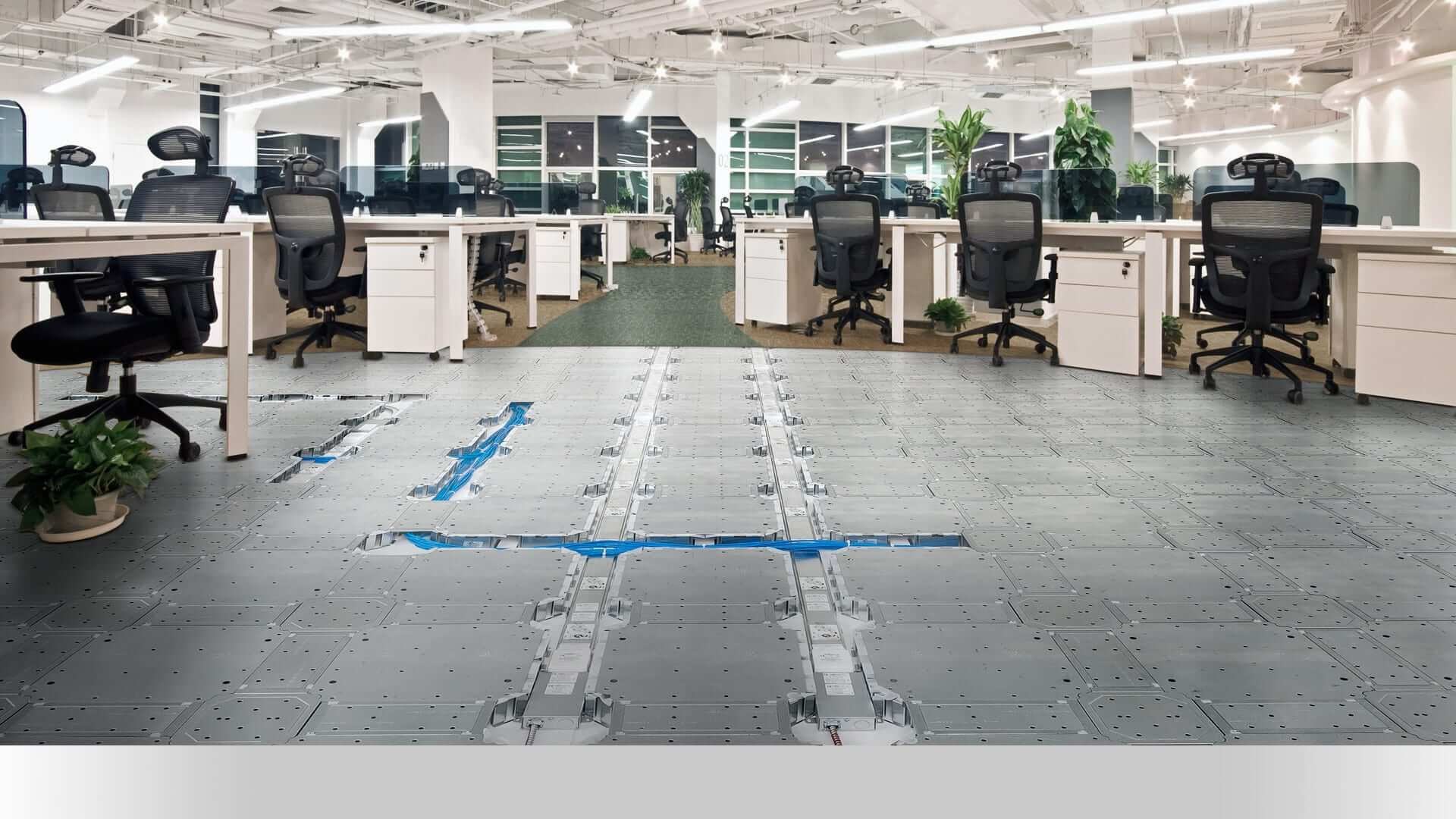 Floor Wire Locator : Gridd access floors keep information secure