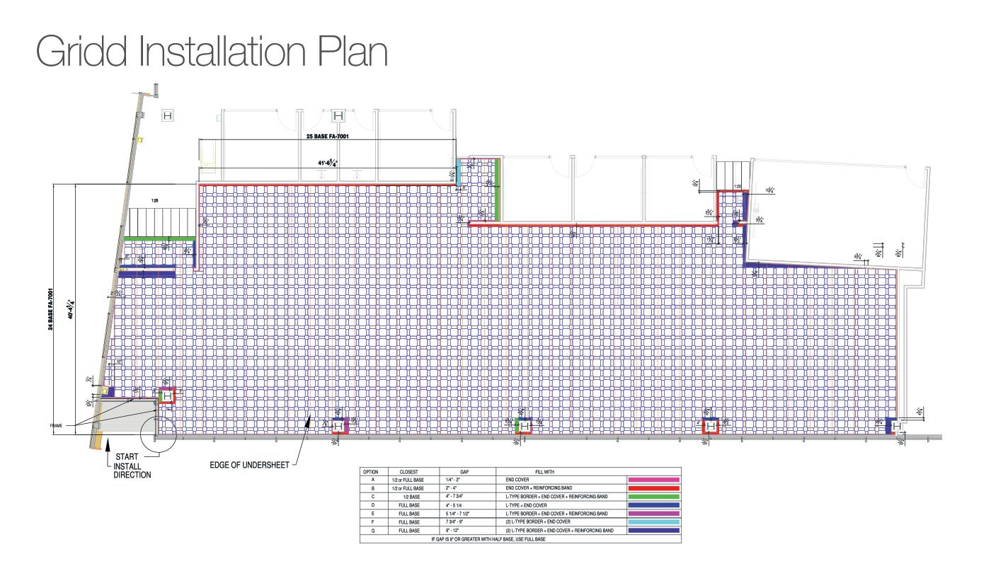 Gridd Raised Flooring Companies Installation Plan