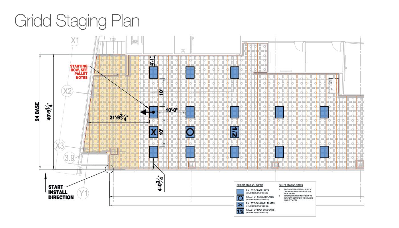 Gridd Access Flooring Company Installation Plan